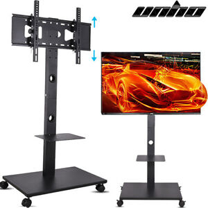 32 70 Tv Stand Mobile Wheeled Cart Mount For 4k Uhd Led Tv W