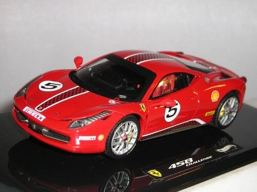 X5504 Hot Wheels Elite Ferrari 458 Scommessa No5 Modellino Auto Rosso 1:43