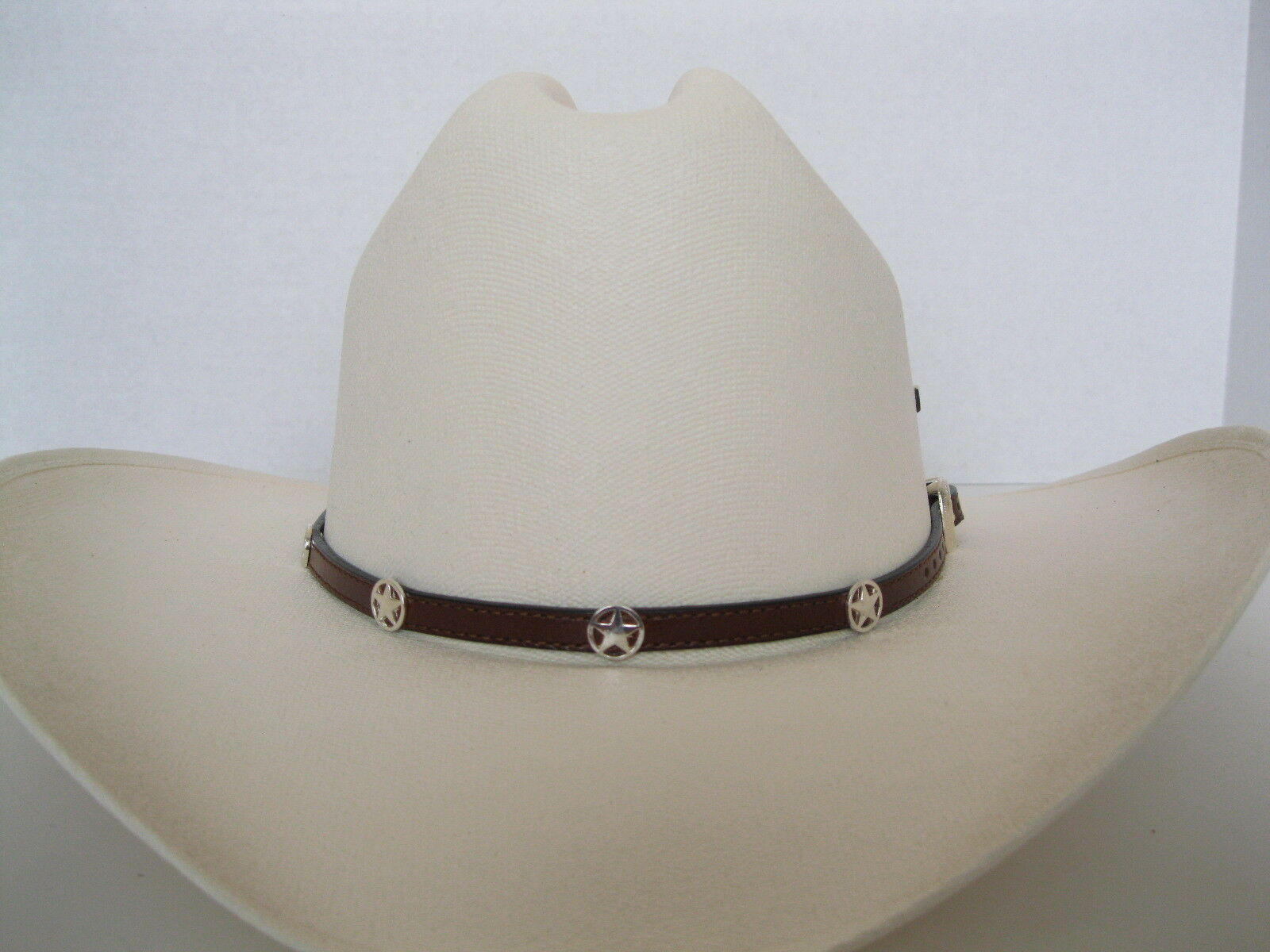 Leather Hat Band Buckle  HB51 - Star Conchos & Buckle Band - Brown 880ea8