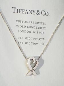 748f6a599 Tiffany & Co Paloma Picasso Sterling Silver 0.3ct Diamond Loving ...