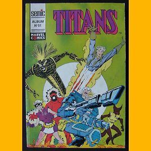 TITANS-Album-N-51-recueil-des-N-151-152-et-153-Marvel-Comics-Semic-1991