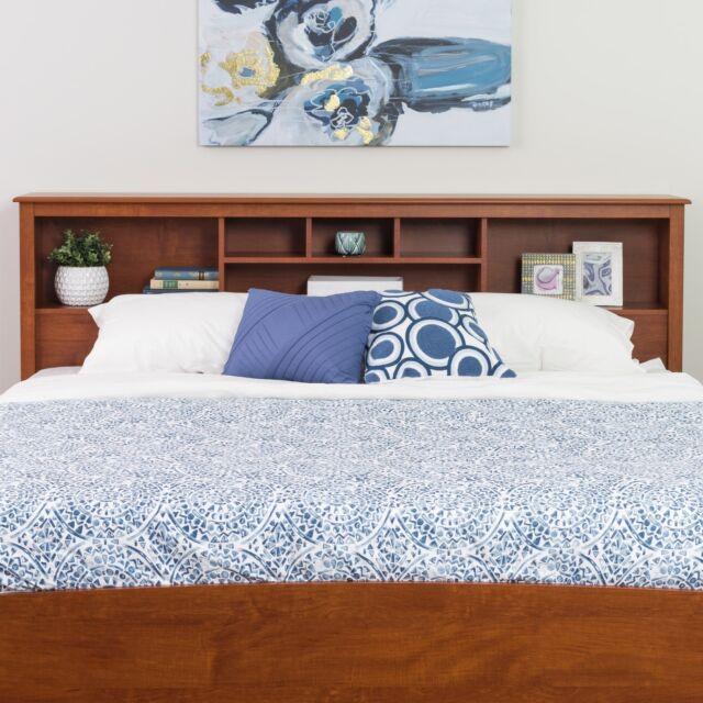 Bookcase Headboard King Size Cherry Storage Bed Headboards Bedroom Furniture