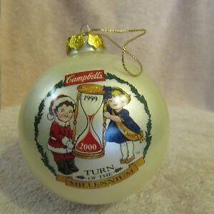 Campbell/'s Soup 1999 Turn of the Millennium Collector/'s Edition Ornament NIB