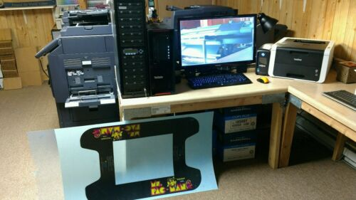 MS PAC MAN cocktail arcade machine glass underlay