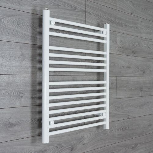 800 mm 650 mm Wide High Flat White Heated Towel Rail Radiator Bathroom Kitchen