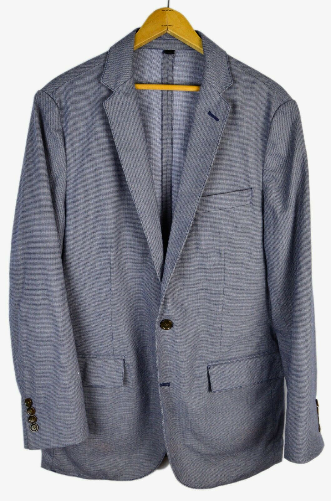 J. Crew Slate bluee Houndstooth Cotton Blend Slim Fit Dual Vent Sport Coat S