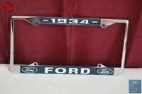 1934 Ford Car Pick Up Truck Front Rear License Plate Holder Chrome Frame