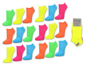9-Paar-NEON-Sneaker-Socken-Damen-amp-Herren-Damensocken-Herrensocken-ANGEBOT