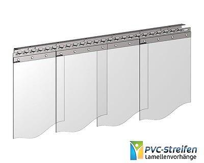 Breite//Höhe 1,00 m x 4,00 m   300 x 3 mm Streifenvorhang Weich PVC