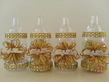 High Quality 12 Gold Fillable Bottles For Baby Shower Favors Prizes Or Games Girl  Decorations