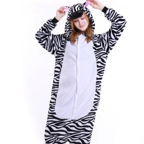 Unisex Adult Pajamas Kigurumi Cosplay Costume Animal Sleepwear Suit+