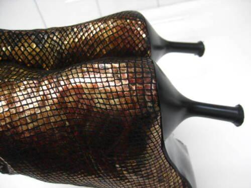 Stivaletti Stiletto Uk punta 3 dorato lucido Carvela a bronzo Taglia Steampunk in fqwRrf