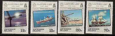 Stamps Hearty Ascension Sg359/62 1984 Lloyds List Mnh