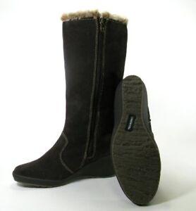 London Fog Lauren Brown Waterproof Suede Winter Boots