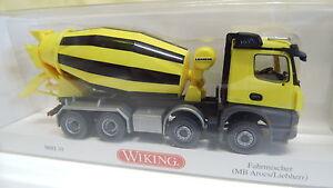 Wiking-H0-1-87-MB-Arocs-Liebherr-Fahrmischer-Beton-068149-NEU-OVP