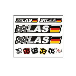 SILAS Auto Fahrrad Motorrad Kart Helm Fahrername Aufkleber Sticker Flagge