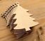 20pcs MDF Wooden Christmas Tree Shape Xmas Hanging Decorations Blanks Craft Gift
