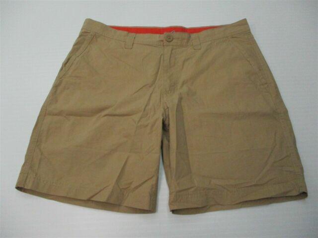 COLUMBIA Men's Size 34 Cotton Flat Front Tan Khaki 8