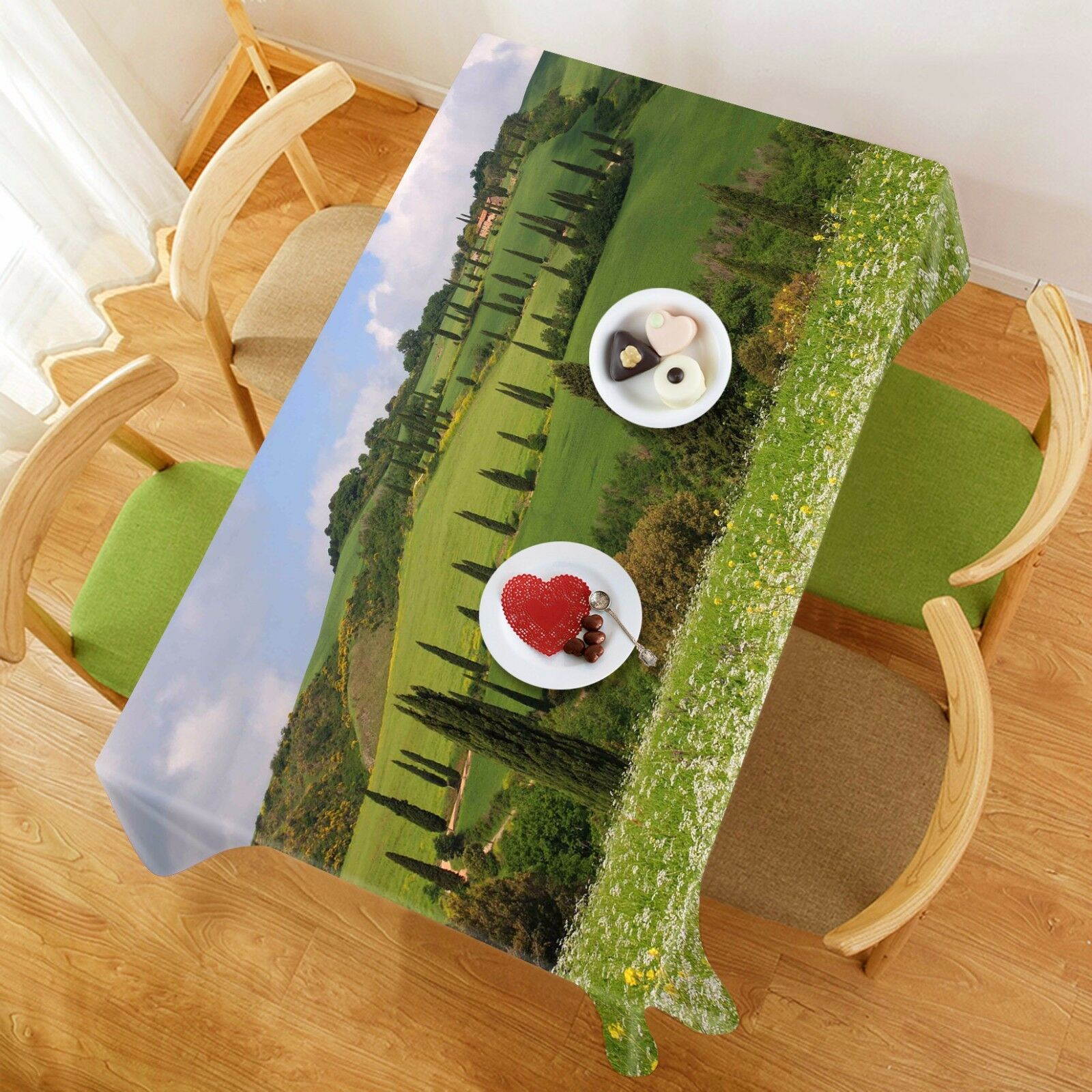 3D Mountain Road Tablecloth Table Cover Cloth Birthday Party Event AJ WALLPAPER