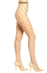 * NWT Wolford 'Kaylee' Fishnet Tights, Brown Clove  M LAST ONE
