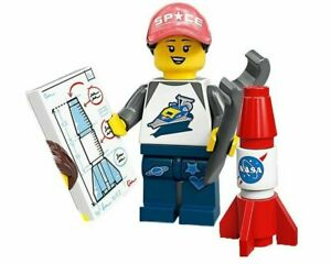 NEW but opened Space Fan with Rocket LEGO 71027 Lego Minifigures Series 20