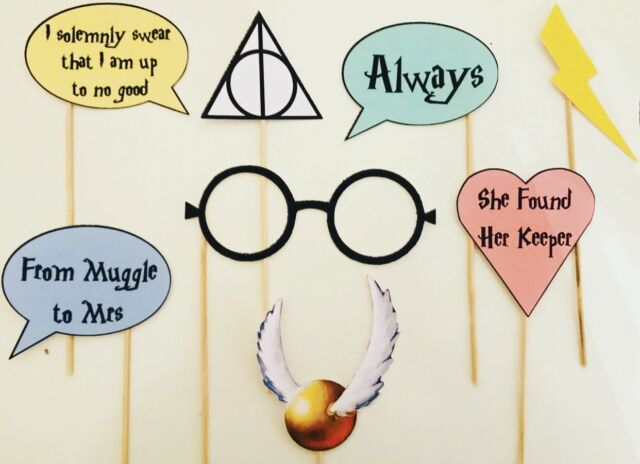 Harry Potter Hen Party Bridal Shower Photo Booth Selfie Props x8 Gift Wedding