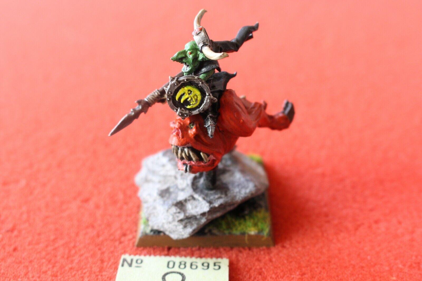 Games Workshop Warhammer Night Goblin Gloomspite Gitz Loon Boss on Giant Squig