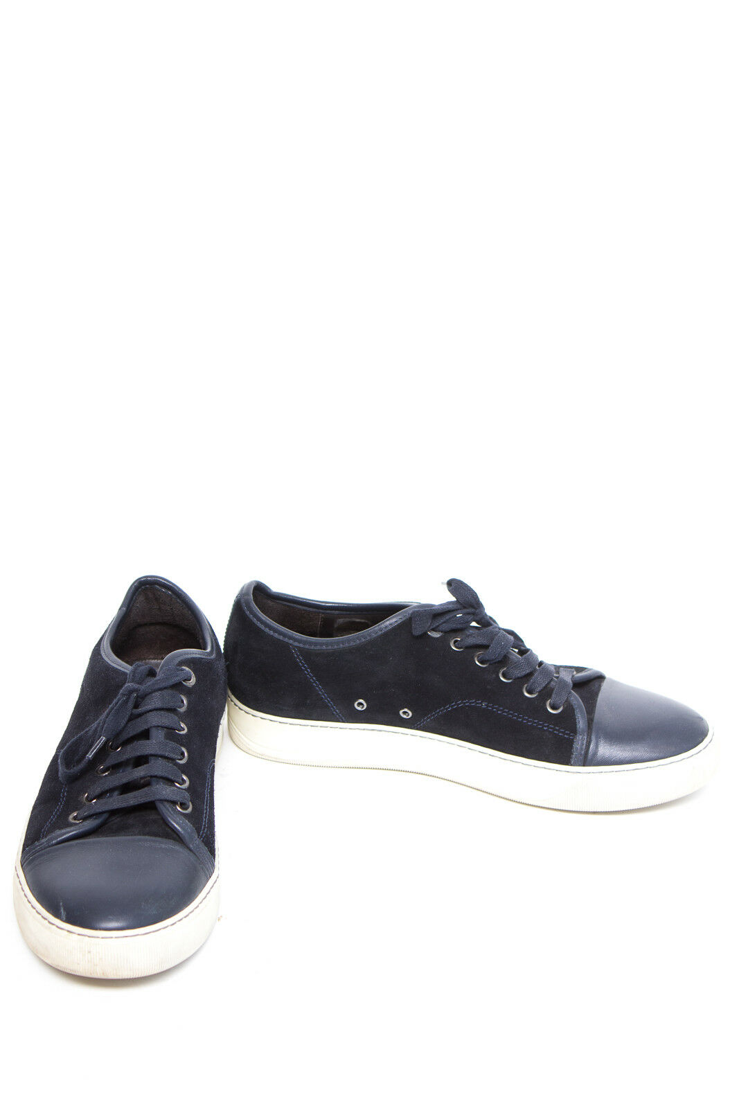 LANVIN chaussures hommes Turnchaussures Taille UK 5 EUR 38 bleu Cuir