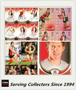 AFL Trading Card MASTER Team Card Collection-ST.KILDA-2008 AFL Champions 9316818001827