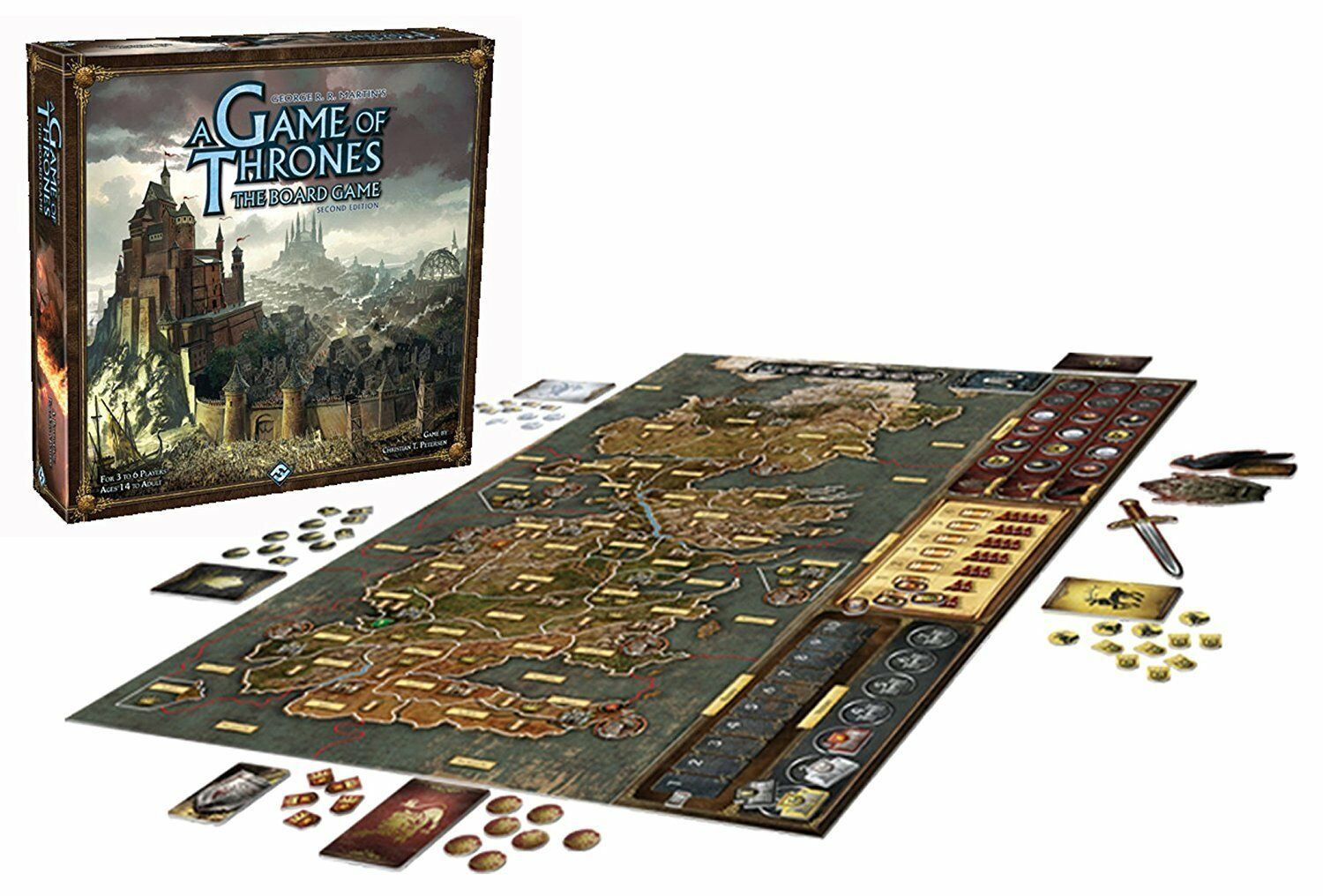 Game of Thrones  The Board Game 2nd Edition - 3 to 6 Players - Ages 14+