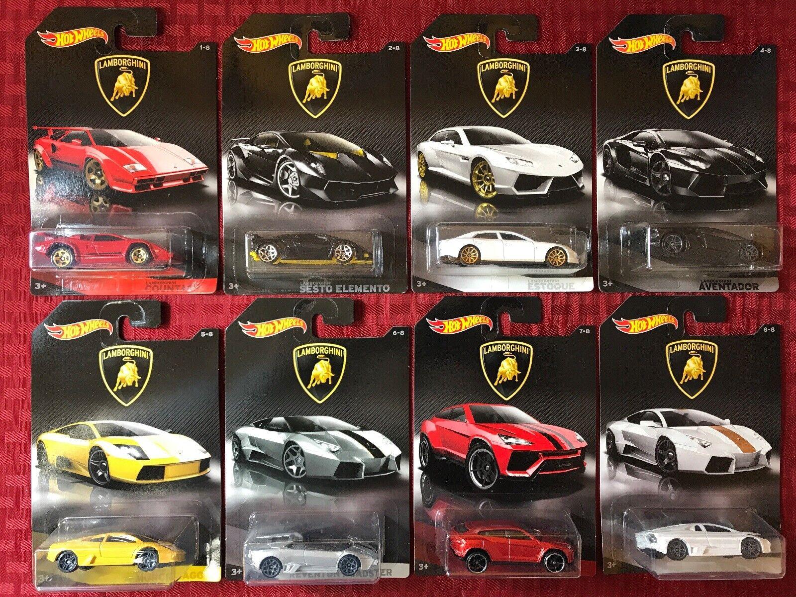 Hot Wheels 2017 Lamborghini Set Completo  8 Lote Coches. producto exclusivo de Walmart