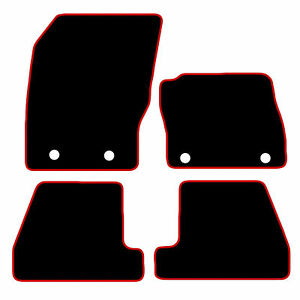 Ford-Focus-Tailored-Car-Mats-2011-onwards-Black-With-Red-Trim