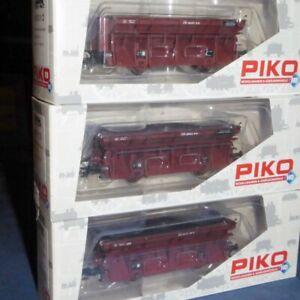 Piko-58312-H0-3-er-Set-Gueter-Kohleselbstentladewagen-Ot-der-DB-unbespielt-OVP