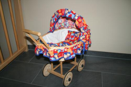 Premium Kinder Puppenwagen Korb Holz neuwertig Puppen & Zubehör