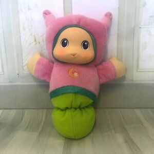 Playskool-Gloworm-Lullaby-Soft-Plush-Stuffed-Toy-Doll-Pink-Light-amp-Music-Working