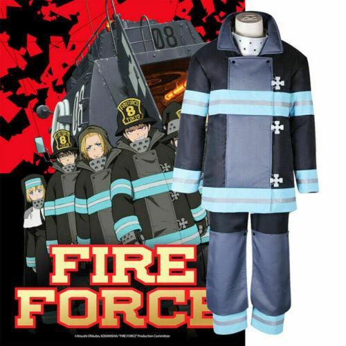 Fire Force Enen no Shouboutai Shinra Kusakabe Takehisa Hinawa Cosplay Costume