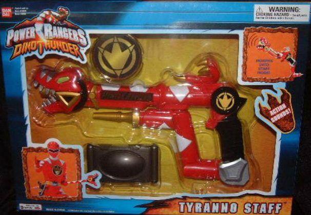 Power Rangers Dino Trueno eectronic Sonido Tyranno personal nuevo sellado de fábrica 2004
