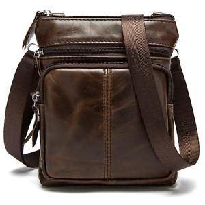 NEW-Men-039-s-Genuine-Leather-Cowhide-Shoulder-Bag-Messenger-Satchel-Tablet-Handbag