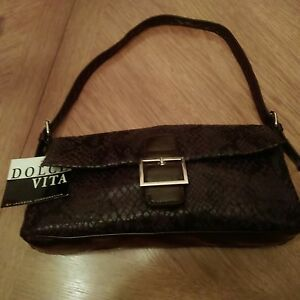 Details about Jackson Dolce Vita NWT Black   Brown Snakeskin Print Ladies Handbag  Purse f6444faa33905