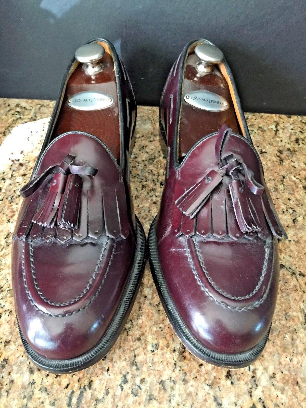 COLE HAAN para hombre Borla Flecos cordobés Mocasín Cuero Zapatos slip, en