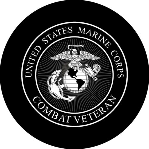 Marines Veteran Spare Tire Cover All Sizes Available-back up camera optional