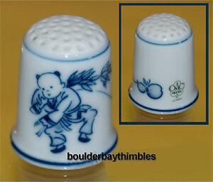 "WGPH Okura ""Blue Male Figure"" Thimble Japan"