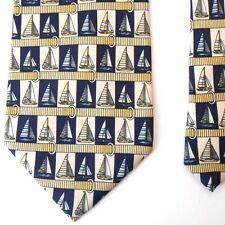 """Paolo Gucci Sailboat Tie Mens Classic Made in Italy Silk Necktie 60"""" x 4"""""""