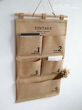 Multilayer Vintage Stuff bag Big Wall Storage Bag Organizer Zakka Home DIY