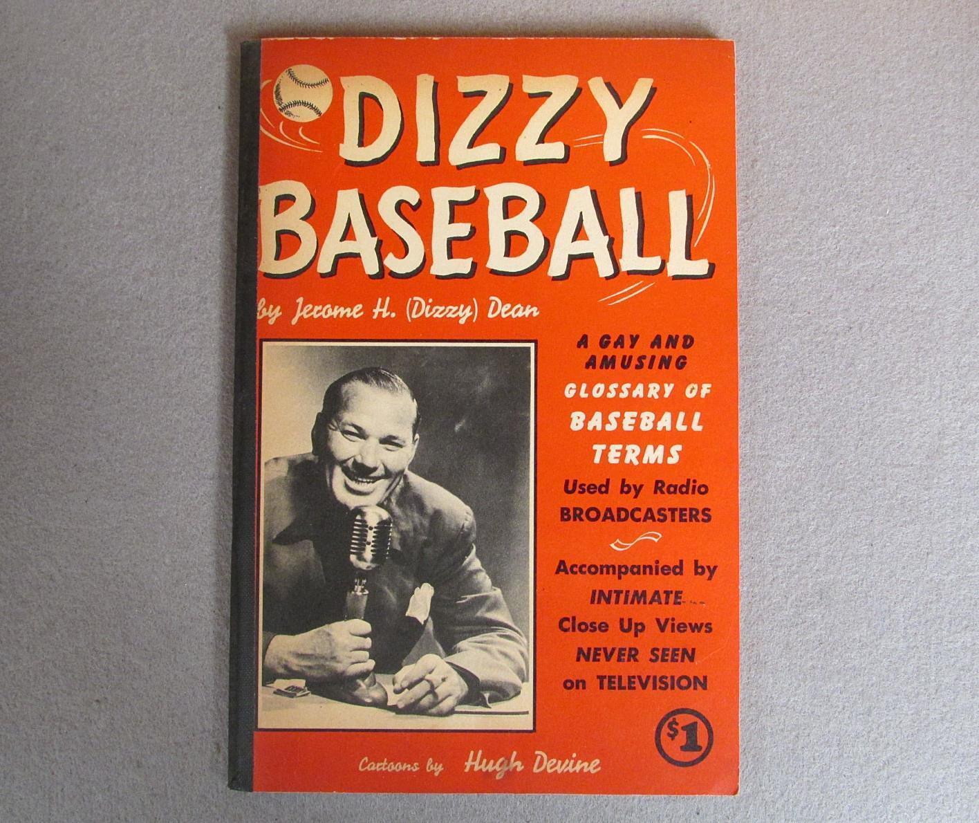 Vintage 1950 S Dizzy Baseball Livre Jerome H.  Dizzy  DEAN caricatures Hugh Devine RARE
