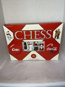 Classic Coca-cola Coke Collector Edition Chess Set Board Game Santa & Polar Bear