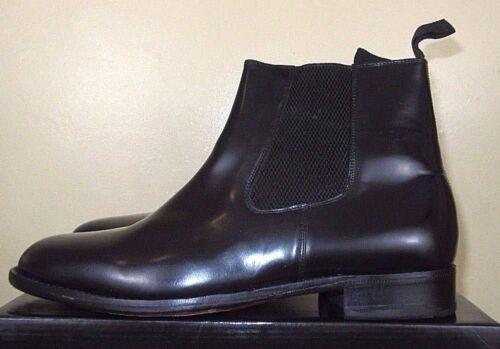 Italian On Leather Slip Samuel Black Mens Boots Chelsea Windsor Uppers RXq7Rw