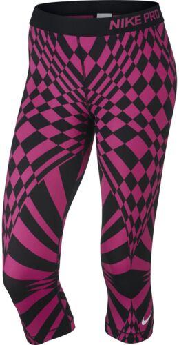 Xs Warped fit Negro Womens Cheque Engineed 50 Nike Capri Dri Pro Pant Nwt Rosa wgRSOW