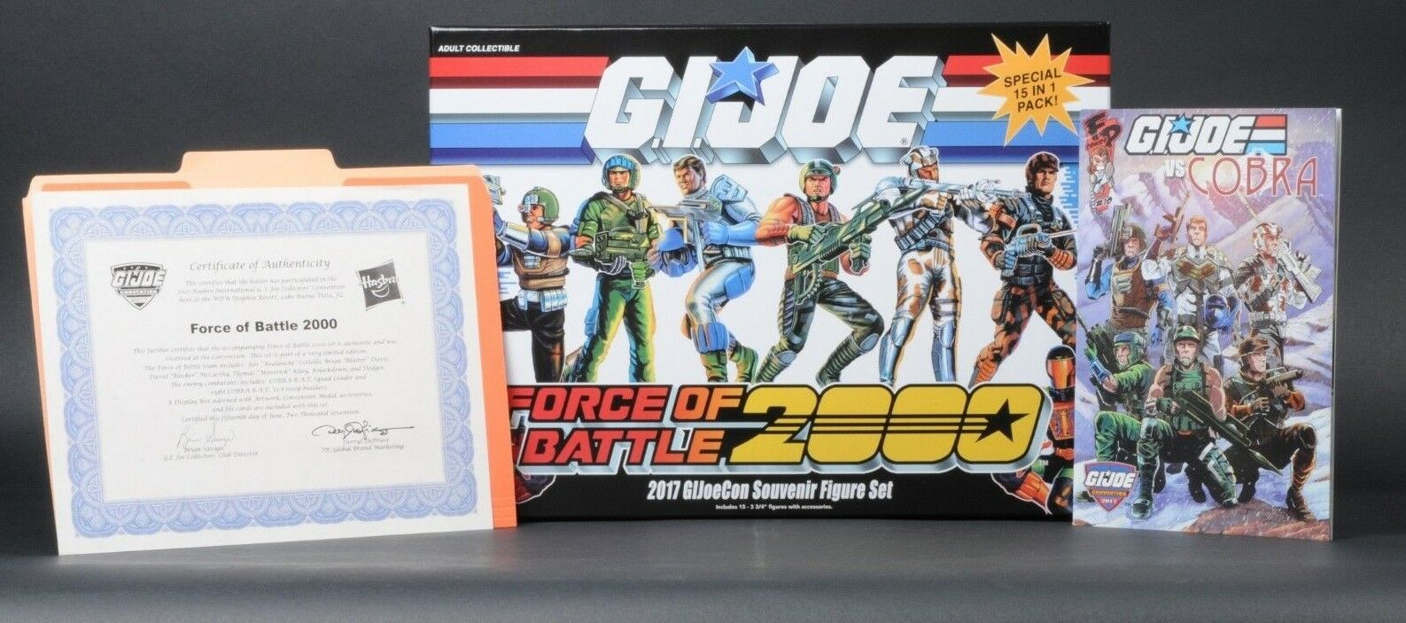 2017 Hasbro GI Joe Con Convention BF Battle Force 2000 Boxed 15 Figure Set