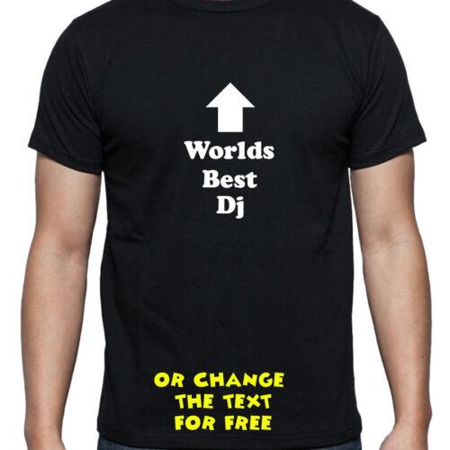 Personalizado mundos Mejor DJ Camiseta Regalo De Cumpleaños